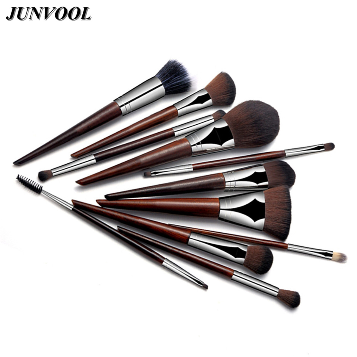 Rosewood Makeup Brushes Set Powder Foundation Eyeshadow Lip Brushes Professional Facial Care Make Up Brush Kit Cosmetics Tool kesmall 10pcs professional makeup brushes set facial eyebrow eyeshadow powder foundation brush cosmetics make up tools co430