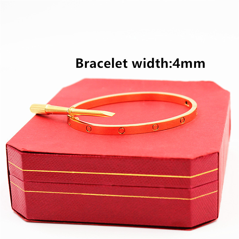 Top Quality Love Bracelet Wide 40mm Lady Bangles Stainless Steel Never Fade Screwdriver Bracelets&Bangles Carter Bangles Jewelry cropped wide sleeve top