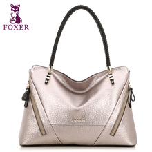 FOXER Luxury Famous designer Brand Women Leather Handbags Fashion shoulder Bag Ladies bag   Women's 2016 new Handle Bag