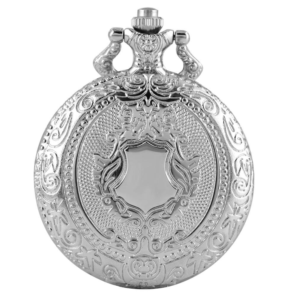 Vintage Clock Pattern Pocket Watch Men Fashion Quartz Pendant Watches Women Necklace Thin Chain Clock Gifts Reloj Mujer