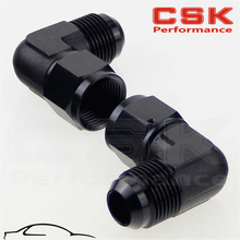 2PCS Male -12 AN To 12 Female 90 Degree Swivel Coupler Union Adapter Fitting