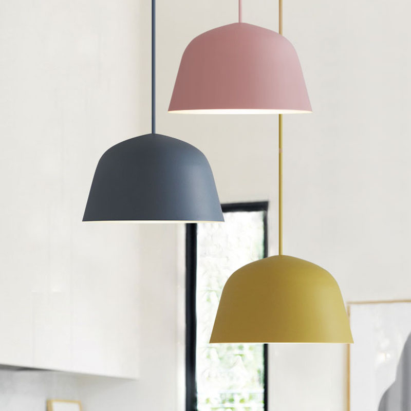 2017 NEW Simple Macaron Color Pendant Lamp Lights Kitchen Island Dining  Living Room Shop Decoration Pendant Lights Kitchen Light In Pendant Lights  From ...
