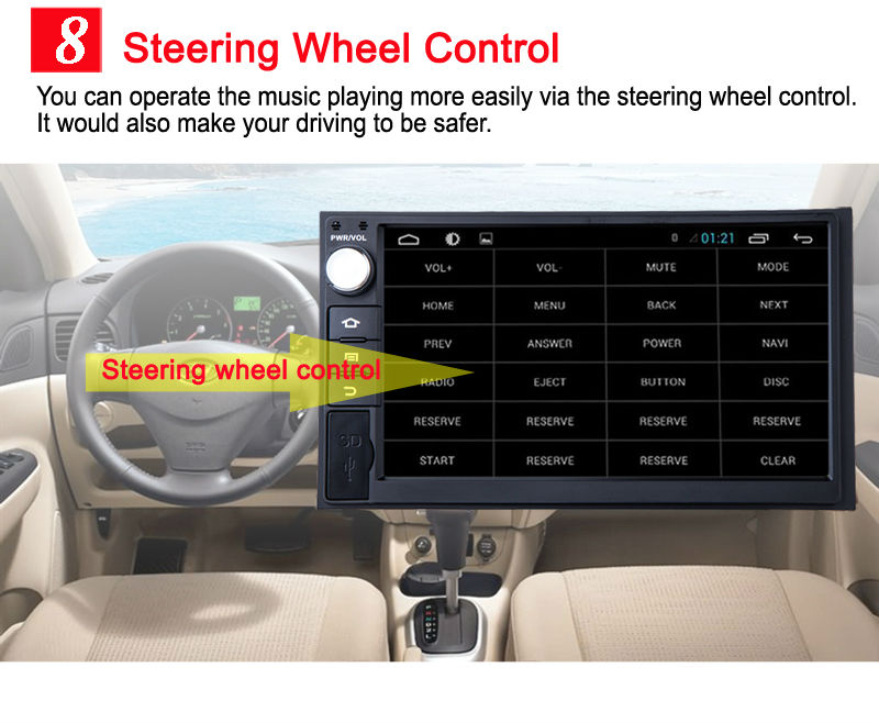 Android 6 8 Steering wheel control