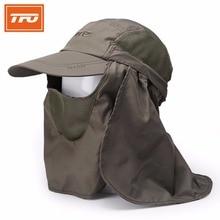 TFO Men Women Fishing Anti-mosquito Tactical Hats Face Mark Sunshade Breathable Hiking Outdoor Fishing Cap Head Net Mesh 310503