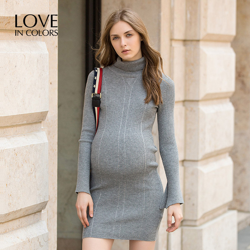 LoveInColors Maternity Dresses Casual Pregnancy Women Winter Dress Maternity Nursing Dress Clothes For Pregnant bahemami maternity clothes new dresses for pregnant women fashion doll collar print cotton linen losse casual pregnancy dress