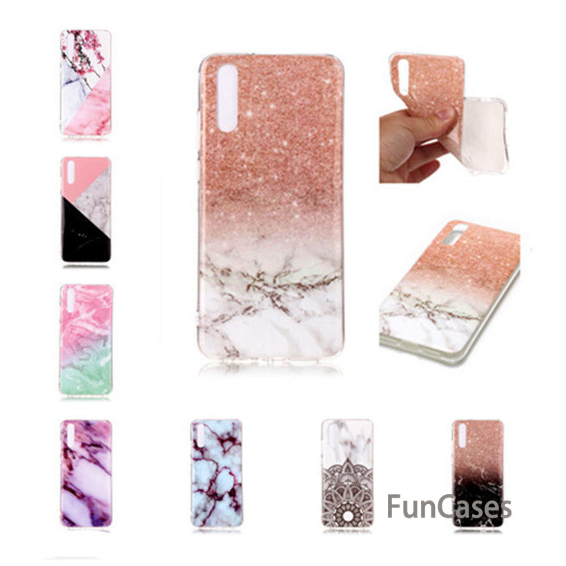 Case For Huawei P Smart P8 P9 Lite 2017 P9 Lite Mini P10 P20 Pro Lite Y5 Y6 2017 Case Marble Flower Soft Phone Cover Huwei(China)