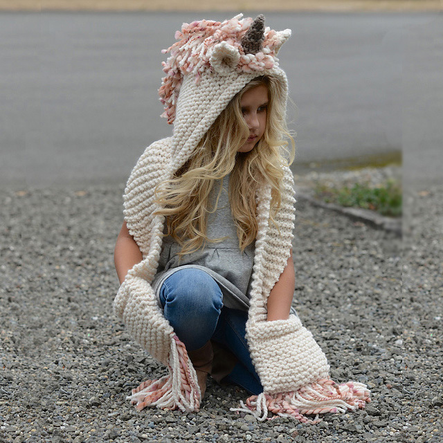 Designer Unicorn Hat with Scarf Set Boys Girls Unisex Scarves Caps Sets  Warm Knitted Hats Winter Beanie for Children 372e01f47ca