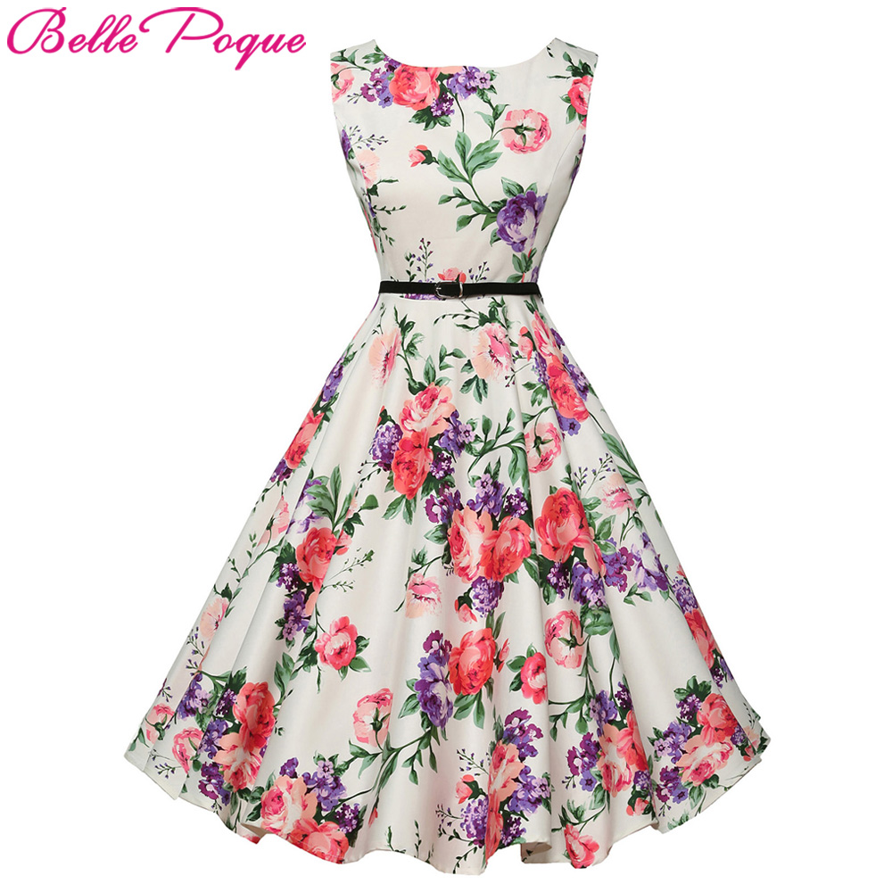 Belle Poque Womens Summer Dress 2017 Floral Retro Vintage ...