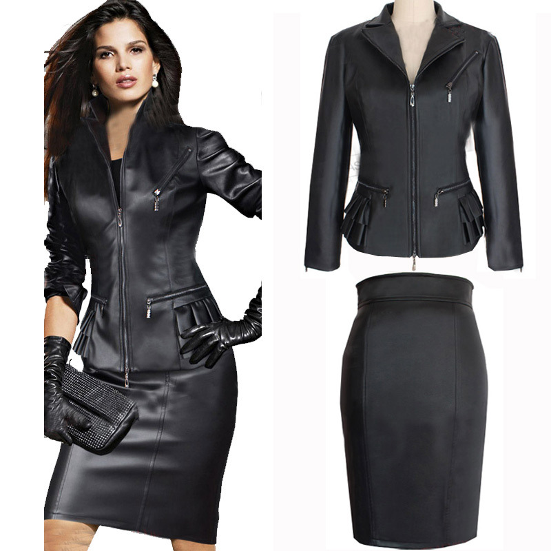 Aliexpress.com : Buy women two piece skirt suits set jacket skirt ...