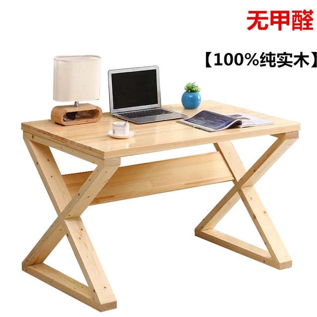 Pure Solid Wood Simple Desktop Computer Desk Laptop Desk Minimalist Home  Study Tables For Children Table