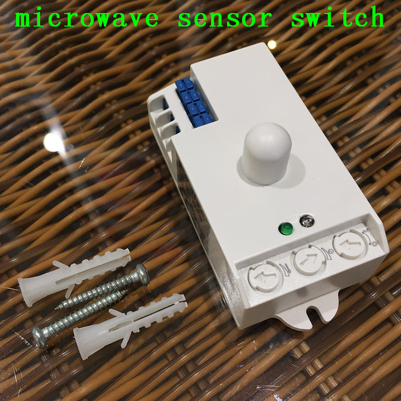 Supply security building automation control, human induction microwave sensor Switch AC220V, lighting sensor 360 Degree CM097