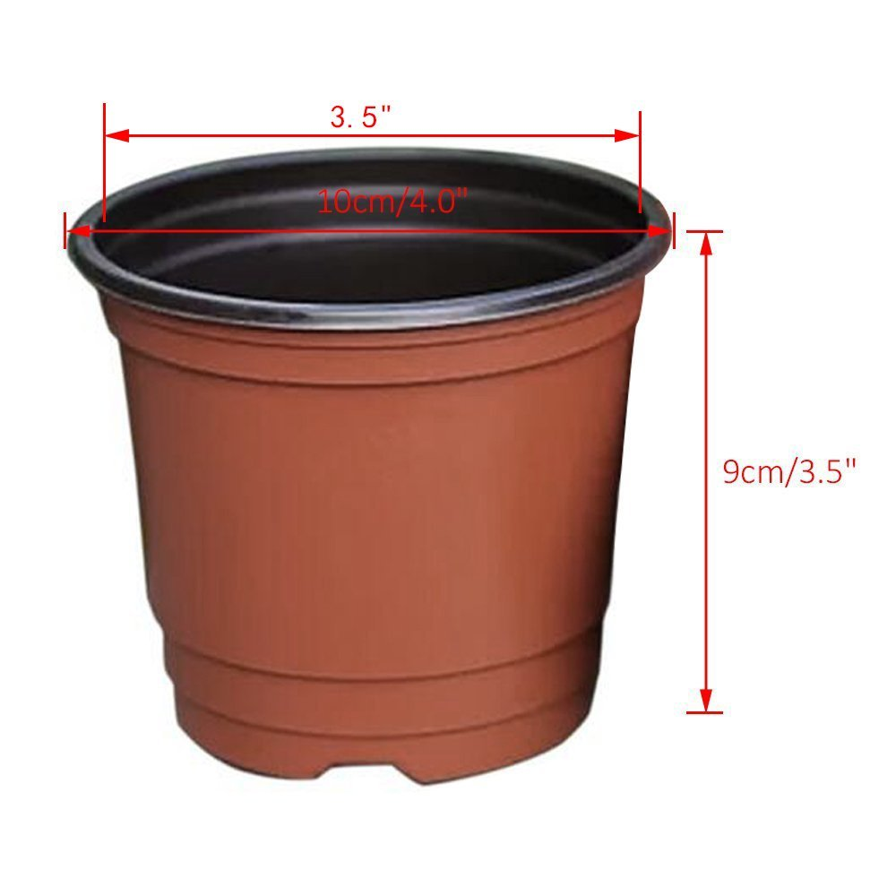 100 Pcs 4 Plastic Plants Nursery Pot Pots Seedlings Flower Plant Container Seed Starting In From Home Garden On Aliexpress