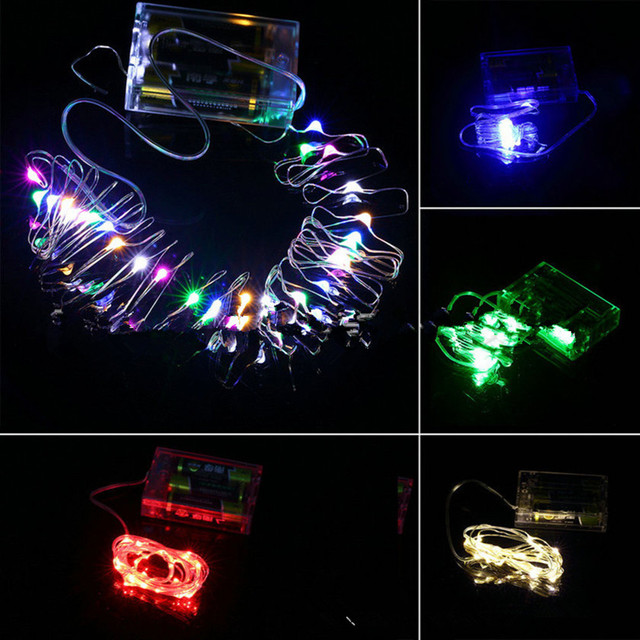 Free shipping 4.5V 3AA battery operated LED string light 10M 100LED strip light for DIY party  Christmas