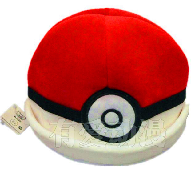 Christmas gift toy cartoon MOVIE TV Red throw poke ball cap Poke mon Pocket Monsters soft plush hat ASH KETCHUM warm cap