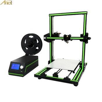 E10 3D Atualizado Impressora Extrusora de Alta Qualidade Plus Size LCD12864 CheapPrice Armação de Metal Cheia de Desktop Impressora 3d Kit impressora 3d