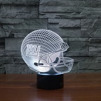 3D Visual Night Light Football LED Table Lamp Acrylic Lamparas Gifts For Child Home Decoration 3d