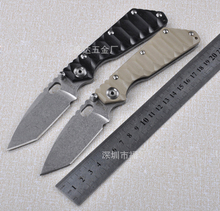 Strider StoneWashed Tactical Folding Knife G10 Antiskid Survival Hunting Pocket Knife Four Color 1571#