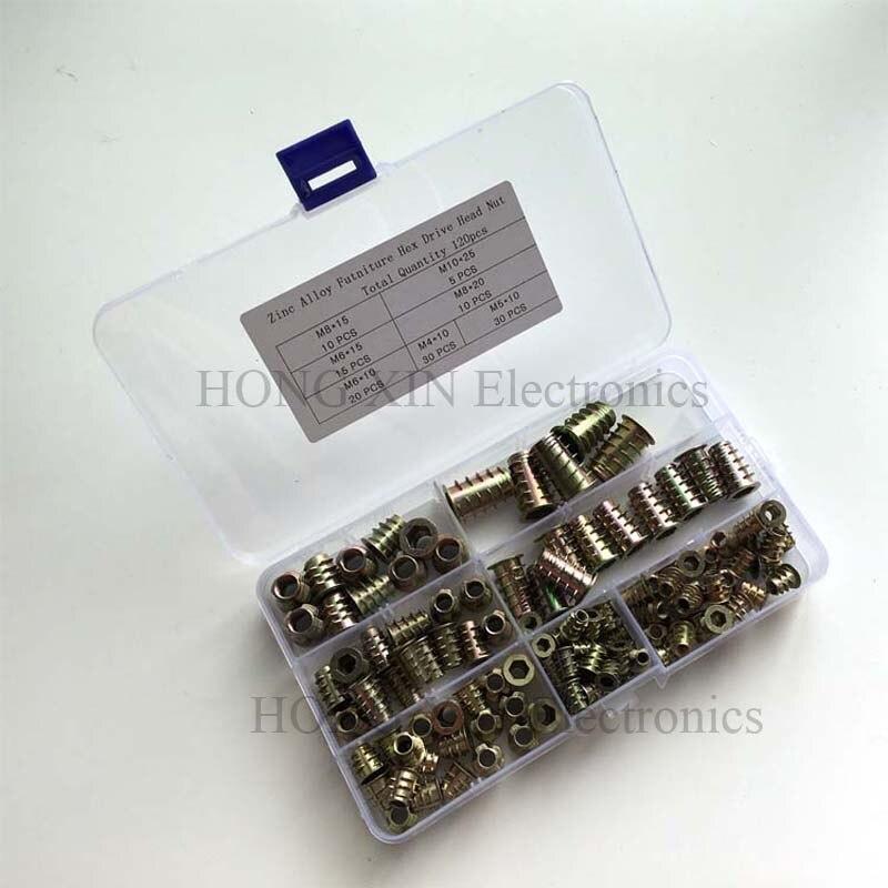 250 M8 Surtidos Inserto De Acero Galvanizado Rosca métrica rosca Kit Tuercas de Manga