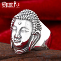 Beier 925 silver sterling jewelry 2015 masculion finger ring fashion chinese buddha man ring  D0836