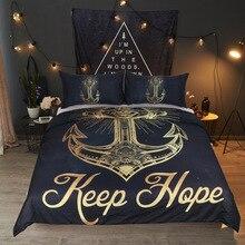 Gold foil anchor Bedding Set queen/king size Boho Mandala Golden Design Ganesha Duvet Cover Indian Symbol Bed Hot sale 3pcs