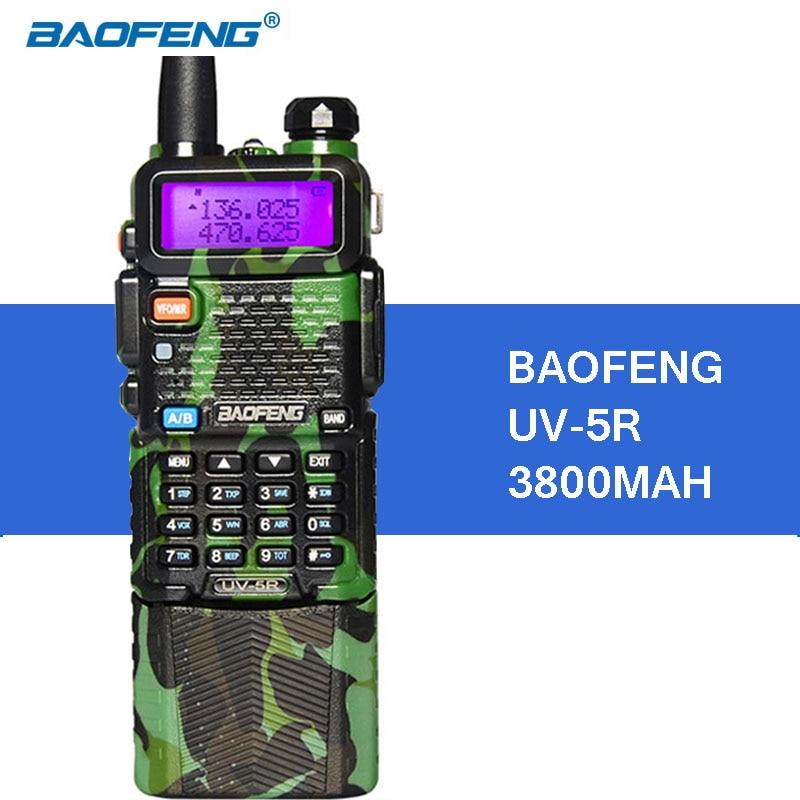 Baofeng UV-5R 3800mAh Portable Walkie Talkie 5W UHF VHF 136-174 / 400-520 MHz UV5R Handheld Radio FM Transceiver Communicator