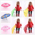 "Doll Accessories,7 style Rain Umbrella fit 18"" American Girl Doll, Children best Birthday Gift"