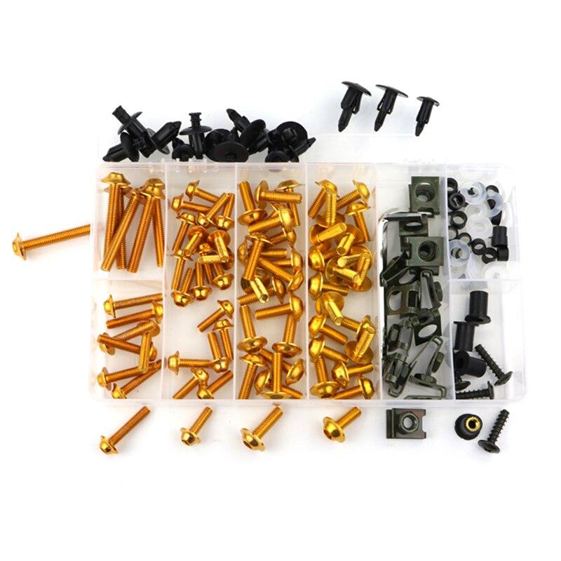 Обтекателя Болты комплект Шурупы Для Honda VFR750 VFR750F VFR800 VFR800X Crossrunner VFR1200X Crosstourer VTR1000 VTR1000F VFR1200F - Цвет: gold