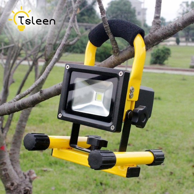 Tsleen 20w rechargeable outdoor lighting portable led flood light tsleen 20w rechargeable outdoor lighting portable led flood light spotlight floodlight refletor camping lamp with eu mozeypictures Image collections