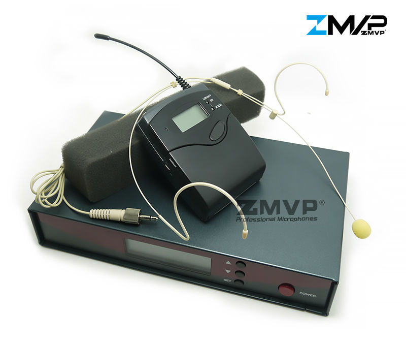 DHL Профессиональный UHF беспроводной микрофон Беспроводная система с нательный передатчик гарнитура микрофон