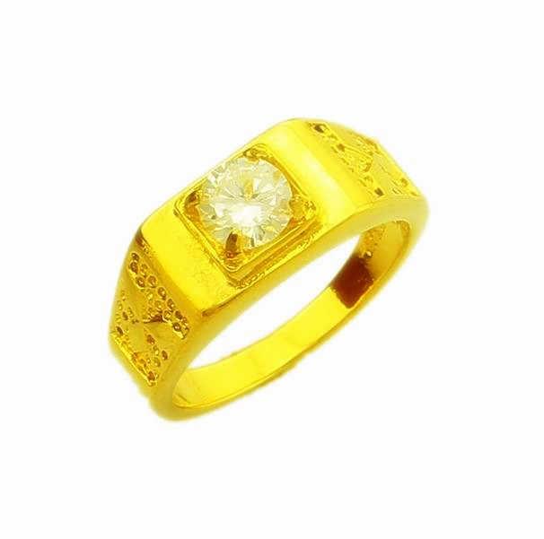 Nouveauté!! Mode 24K GP couleur or hommes et femmes bijoux bague en or jaune or anneau de doigt vente chaude YHDR023