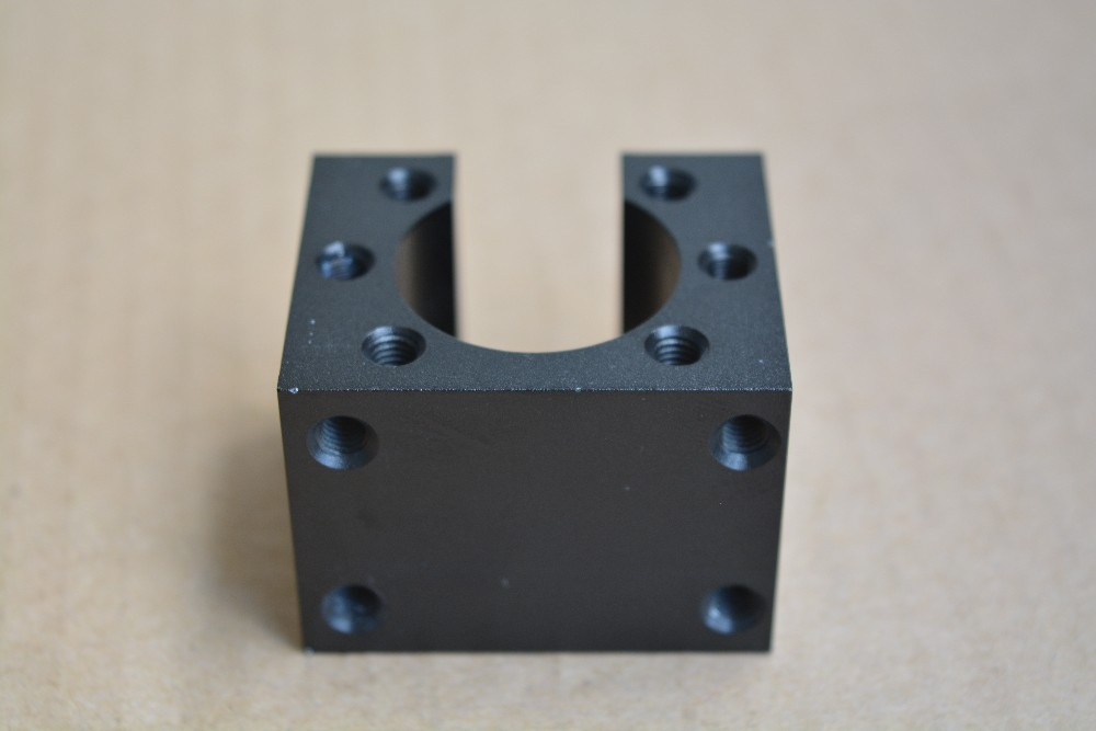 Inner Hole 22mm Or 24mm HD12 SFU1204 Ball Nut Mount Base Open Type Black Housing Bracket Holder 1pcs