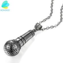 Ожерелье boniskiss в стиле хип хоп серебристое из нержавеющей