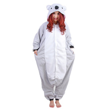 DOUBCHOW Audlts Womens Mens Gray Koala Costume Pajama Cosplay Halloween Christmas Onesies Unisex Teenagers Cartoon Lounge Wear