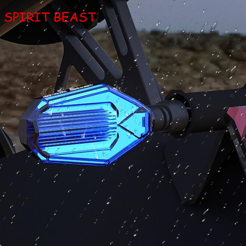 2 Pcs Motorcycle modified Turn signals waterproof turn lights LED direction lamp decorative Signal lights Daytime lamp free ship