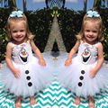 Olaf Tutu dress for little girls Kids Fancy dress Halloween carnival party costume casual dress baby girls dress