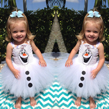 Olaf Tutu dress for little girls Kids Fancy dress Halloween carnival party costume casual dress baby