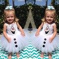Olaf Tutu vestido para as meninas Crianças Fantasia vestido de Halloween traje do partido do carnaval vestido ocasional do bebê meninas vestido