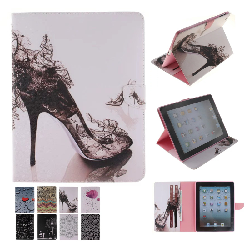 все цены на  For Case Apple iPad 2 iPad 3 iPad 4 Smart PU Leather Tablet Cover Stand Flip Cute Kids Case for iPad 4 3 2 with Card Slot  онлайн