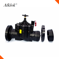 DN80 Plastic 3 inch low pressure 220v ac irrigation water solenoid valve Flange Connection