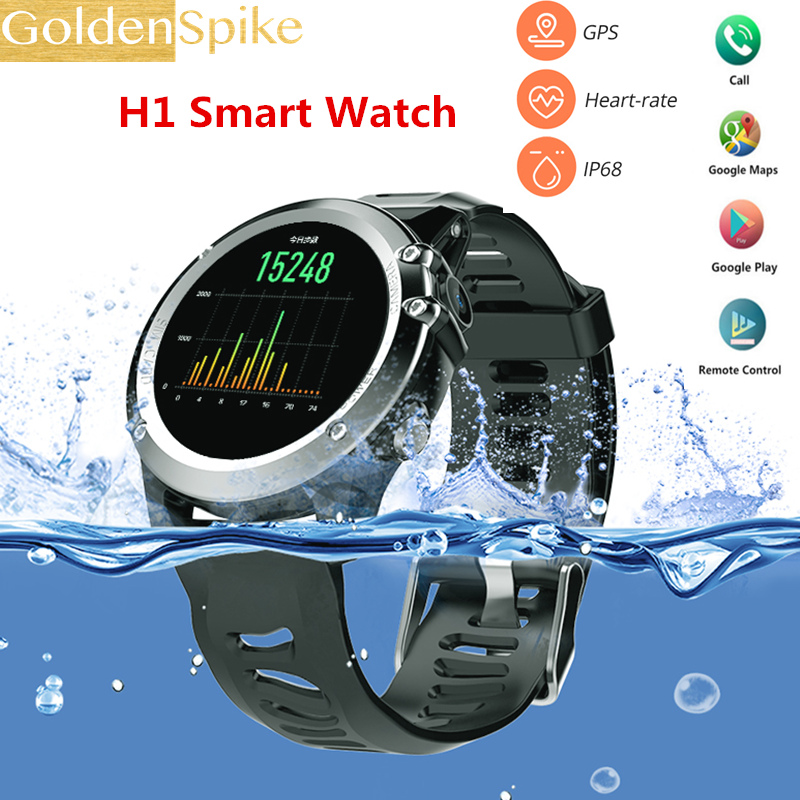 H1 Waterproof Smart Watch MTK6572 IP68 1.39inch 400*400 GPS Wifi 3G Monitor Heart Rate 4GB+512MB Camera 500W For Android IOS цена 2017