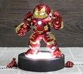 Q versión The Avengers Iron Man Hulkbuster marca 44 MK 44 Hulk Buster figura de acción juguetes con luz LED decoración de coches