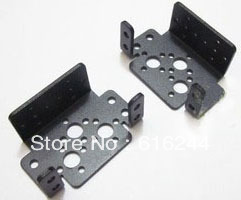 HK POST FREE wholesale 50pcs/lot Aluminum Multi-Purpose Servo Bracket(2 holes) anodized standard servo bracket