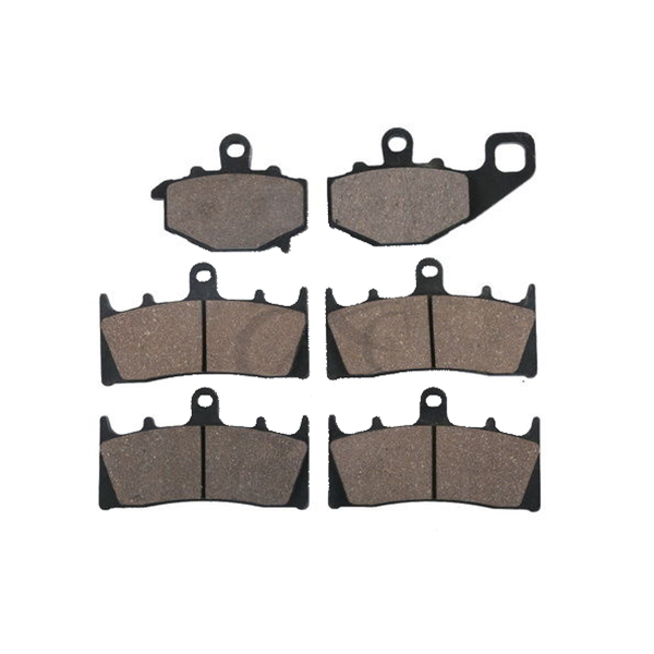 6 PCS Motorcycle Sintered FRONT REAR BRAKE PADS FOR KAWASAKI ZX600 NINJA ZX6R ZX-6R 1998 - 2002 1999 2000 motorcycle front rear brake pads for kawasaki gpx 600 r zx600 1988 1996 gpx 750 r zx750 1987 1989 zr750 1991 1995 zx100 zx10 p04