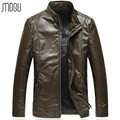 2016 leather jacket plus size 6XL men winter mens leather jacket 7161