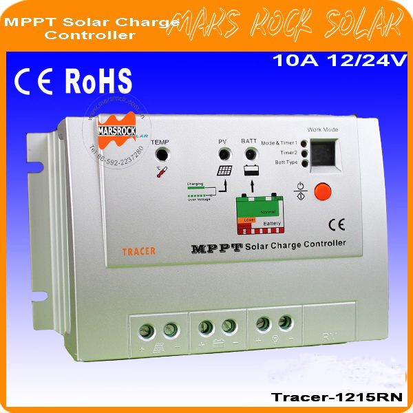 10A 12/24V Advanced Tracer-1215RN  MPPT Solar Charge Controller, applied for A-Si, Mono, Poly, etc solar PV modules exmork 100 вт 12 в poly si