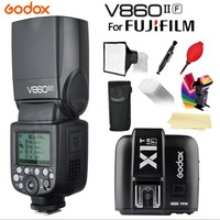 In Stock! Godox V860IIF Li ion Battery Camera Flash light + X1F Trigger Wireless TTL 2.4G for Fujifilm Cameras with Gifts XT1
