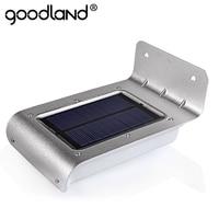 Goodland LED Solar Power Motion Sensor Solar Garden Light Lamp Security Outdoor Lighting Garden Solar Light