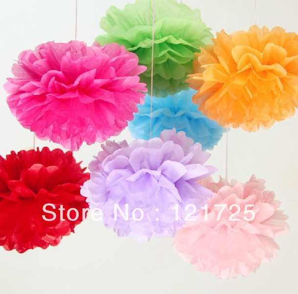 Wholesales 100pcs 820cm tissue paper pom poms party wedding wholesales 100pcs 820cm tissue paper pom poms party wedding shower flower balls decoration in artificial dried flowers from home garden on mightylinksfo