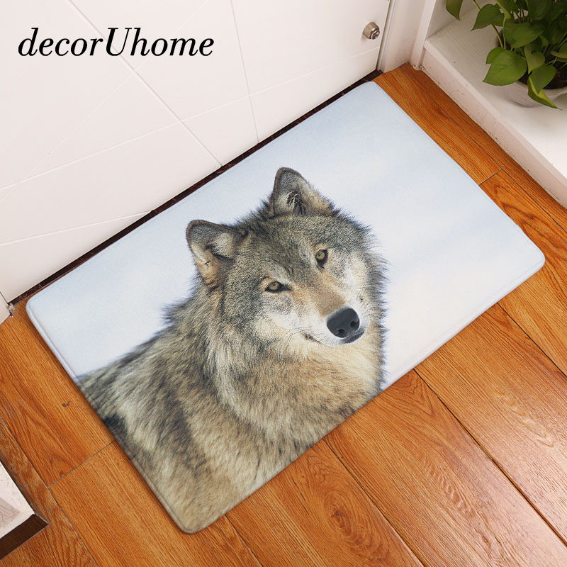 decorUhome Wholesale Anti-Slip Floor Mat Waterproof Polar Bear Fox Carpets Bedroom Rugs Decorative Stair Mats Home Decor Crafts