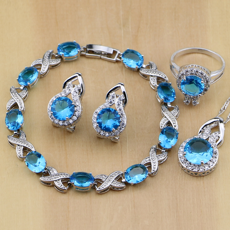 925 Silver Jewelry Blue...